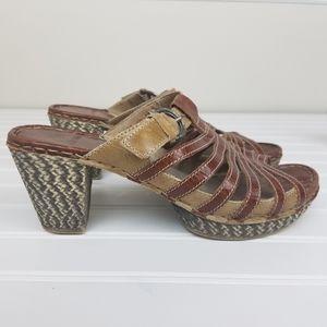 Josef Seibel Strappy Slip On Sandal Size 10